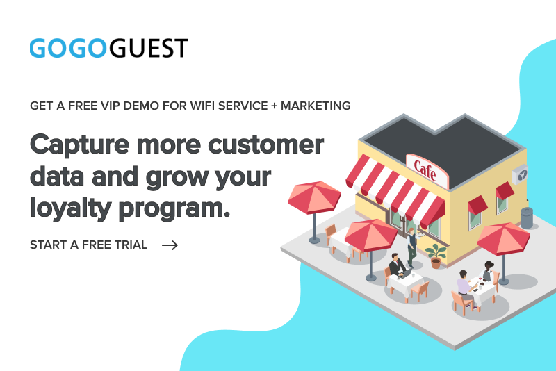 GoGoGuest captive portals with WiFi service